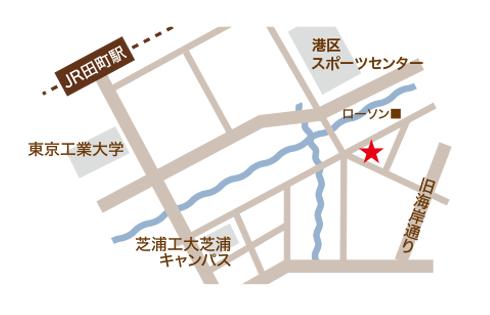 田町店の地図イラスト